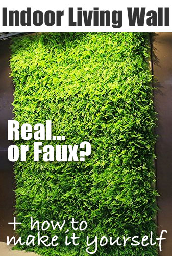 How to Make a Faux Plant Living Wall in Your Bathroom