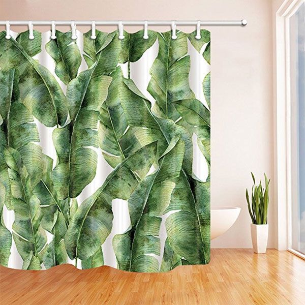 Banana Leaf Shower Curtain Bathroom Quot Re Do Quot Ideas