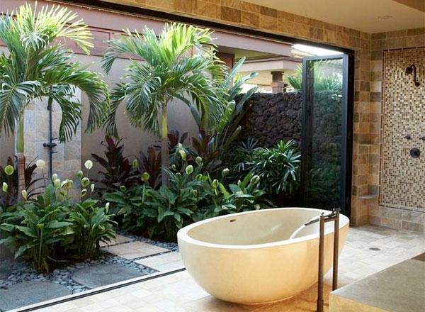 Forest bathing in your own bathroom 3 diy ideas for Forest bathroom ideas