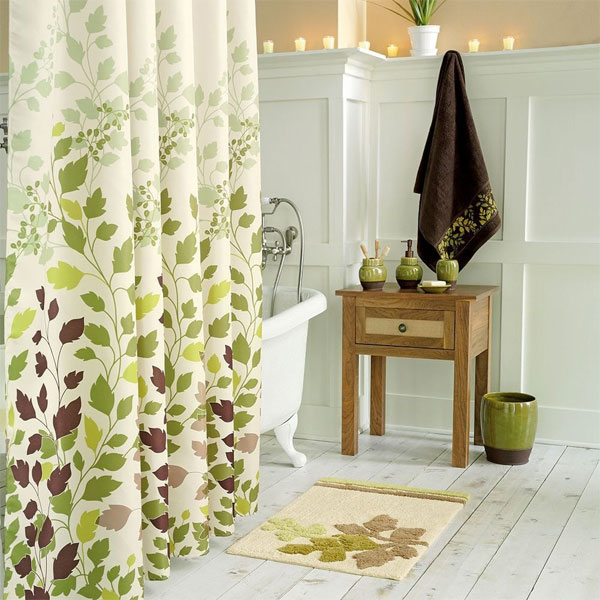Green Leaf Shower Curtain Decorating Ideas [What to Do]