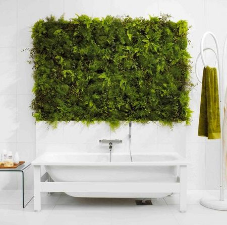 The Easy Way To Add A Living Wall In A Bathroom