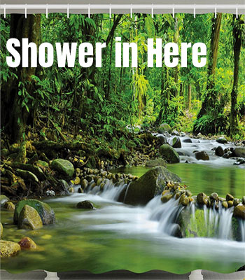 Create A Jungle Bathroom With Shower Curtain