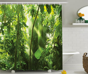 Interior Design Tips Jungle Shower Curtain Decorating